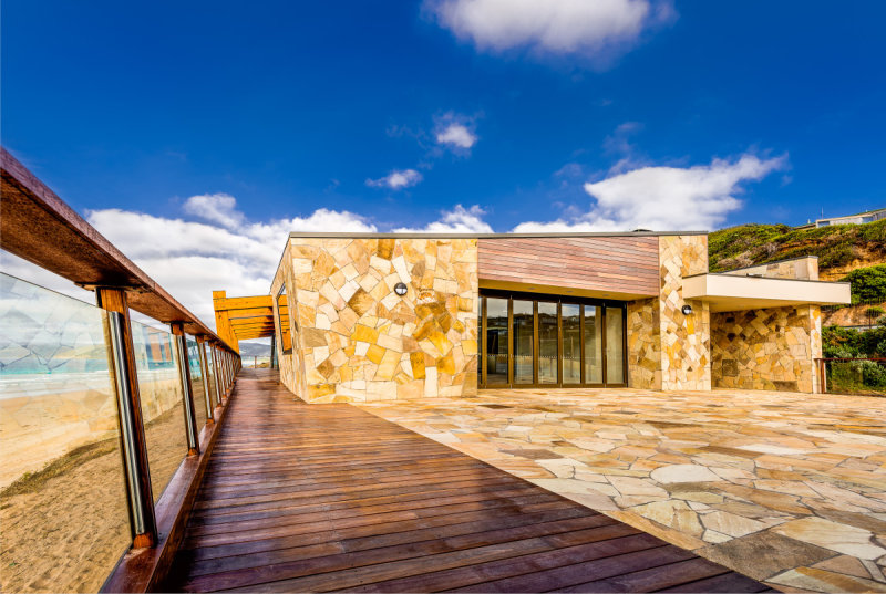 Boardwalk deck to dune side of club