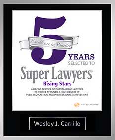 Wesley J. Carrillo Celebrating 5 Years S