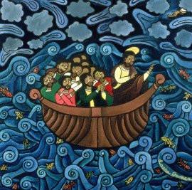 StormJesusinboat