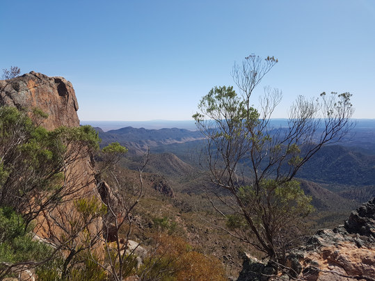 View from St Mary's Peak in the Flinders Ranges, SA