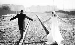 married couple train tracks