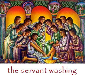 servant washing