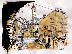ruelles de Corté (Corse)