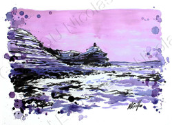 les côtes de Bonifacio (Corse)