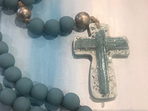 Blessing Beads with Glass & Clay Cross