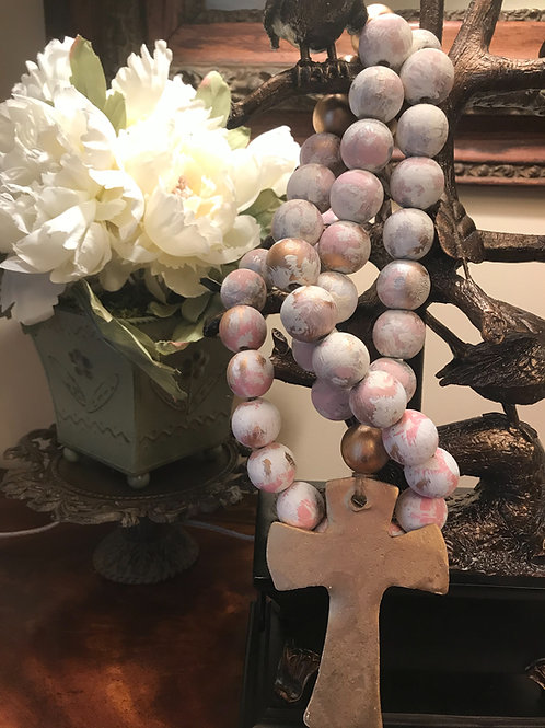 Blessing beads:  Pretty pink