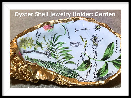 Oyster Shell Jewelry Dish: Garden