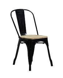 Cadeira Tolix PEL-1520 Assento em Madeir