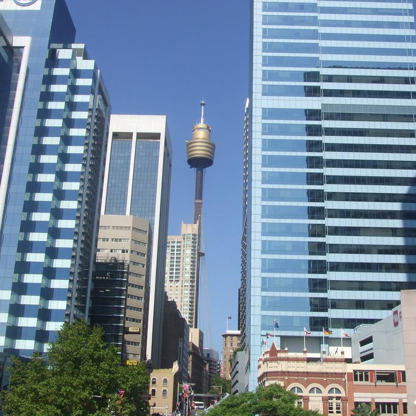 Australian Blick auf die Stadt