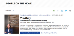Tim Gray names people on the move nashville business journal