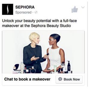 facebook book now sephora