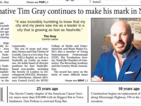 Grayscale Marketing CEO, Tim Gray, makes mark in Nashville.