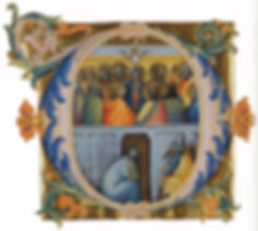14th Century painting by Lorenzo Monaco was typical of its time depicting the Holy Spirit as a dove.