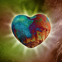 Conceptual image of Heart-shaped Planet