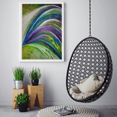 """""""Colour explosion"""" on the wall"""
