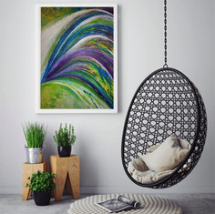 """Colour explosion"" on the wall"