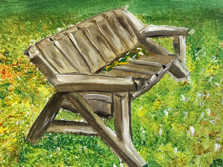 Bench with Leaves