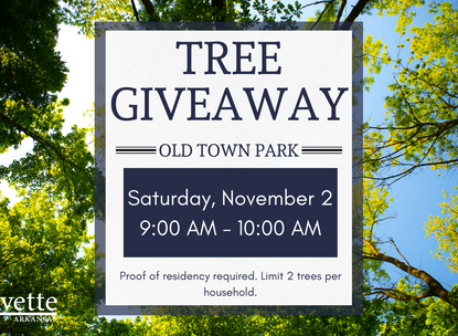 Tree Giveaway Planned