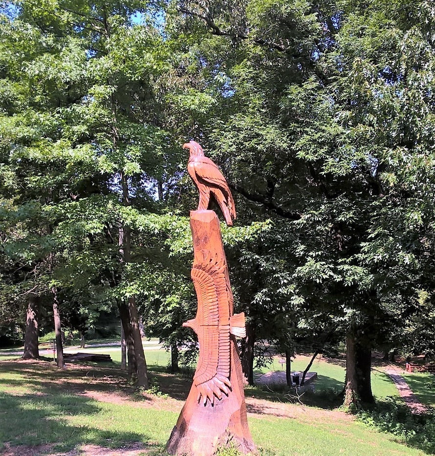 Sculpture at Old Town park