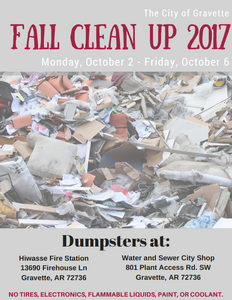 2017 City of Gravette Fall Clean Up