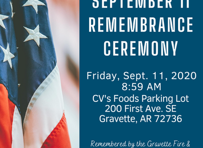 Gravette Fire to Host Remembrance Ceremony