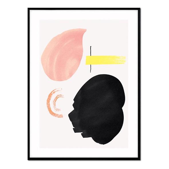 Pinceladas Rosa, Amarillo y Negro