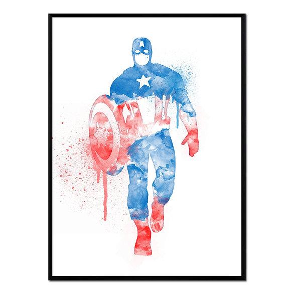 Graffiti Capitán América