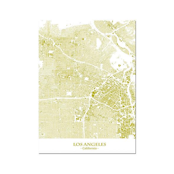 Ilustración Mapa Los Angeles-California. Decoración mural.Cartography38