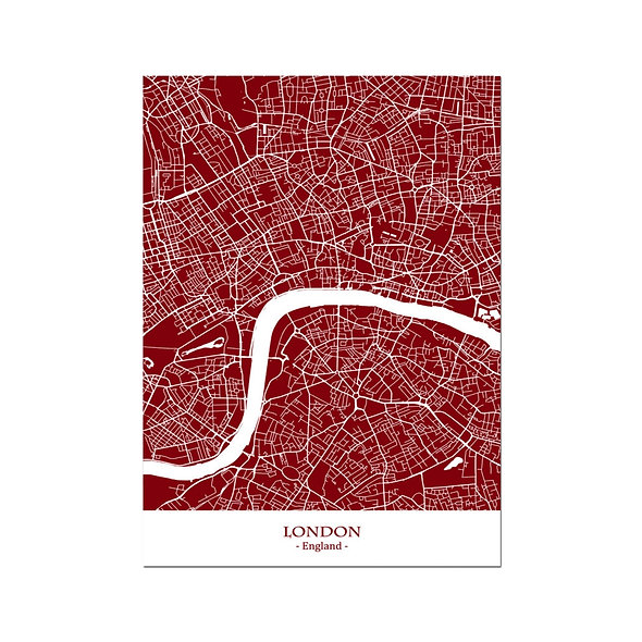 Ilustración Mapa London-England. Decoración mural.Cartography139