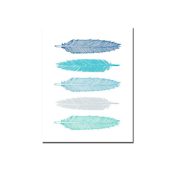 Plumas Tonos Azules