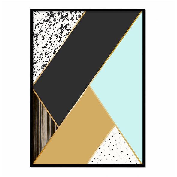 Geometría Azul, Negro, Dorado