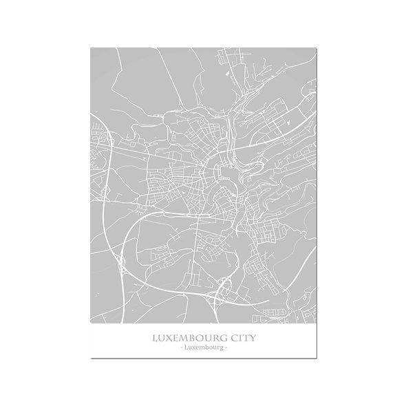 Ilustración Mapa Luxembourg. Decoración mural.Cartography10