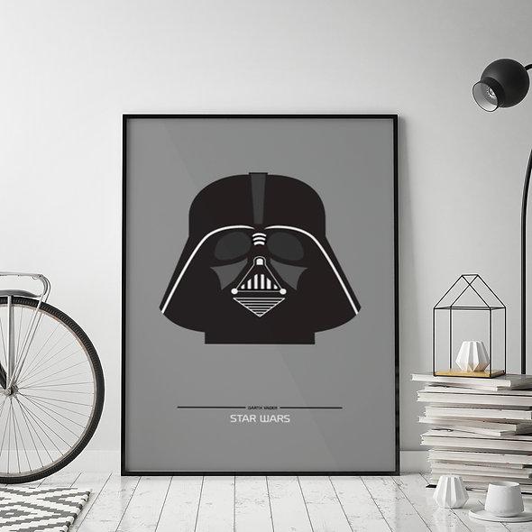 Darth Vader Negro y Gris