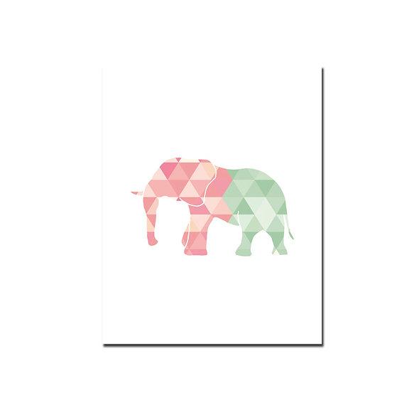 Elefante Rosa y Verde