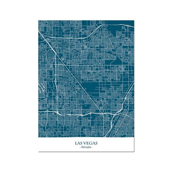 Ilustración Mapa Las Vegas-Nevada. Decoración mural.Cartography22