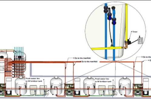 Used Damatex Irrigation System Cannabis Growing
