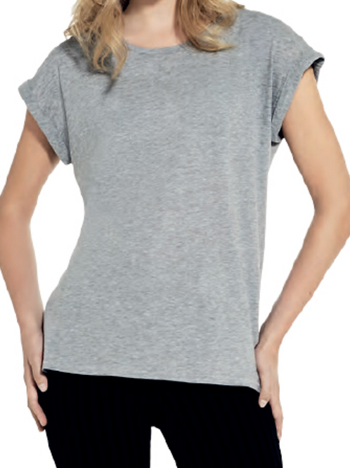 Ladies Rolled Sleeve T-Shirt