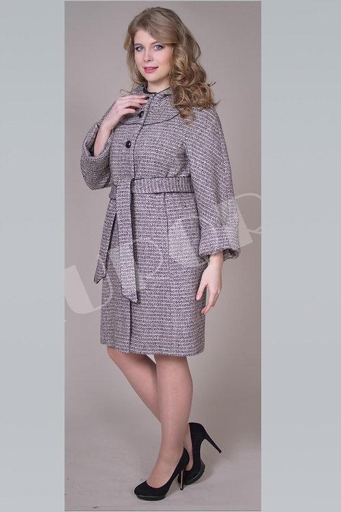 Пальто А-250 (ткань твид «елка»)