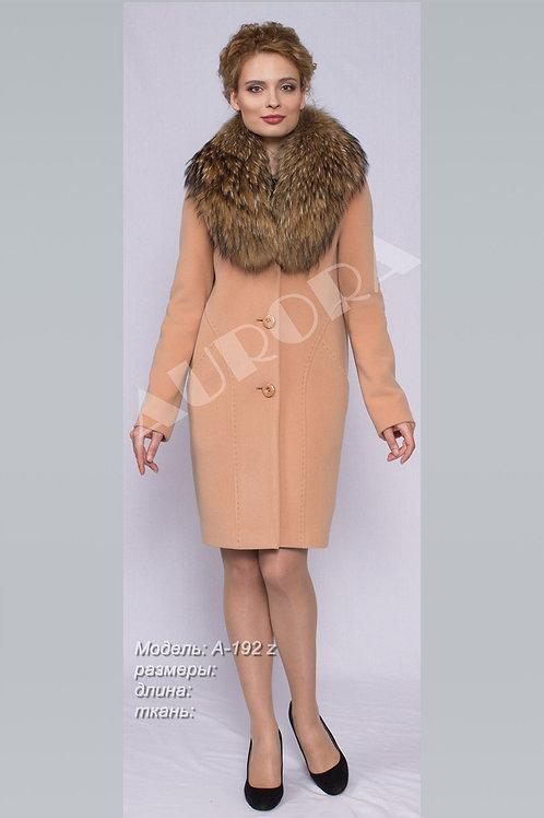 Пальто А-192Z (ткань велюр)
