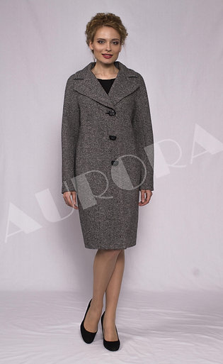 Пальто А-287 (ткань твид )