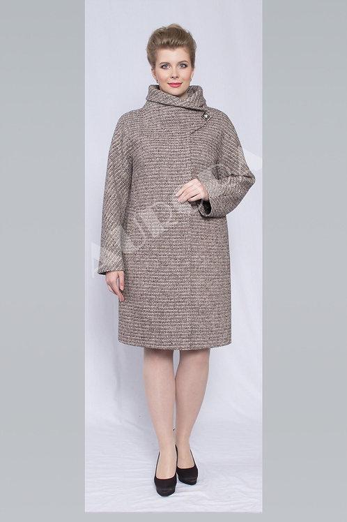 Пальто А-283 (ткань твид «елка»)