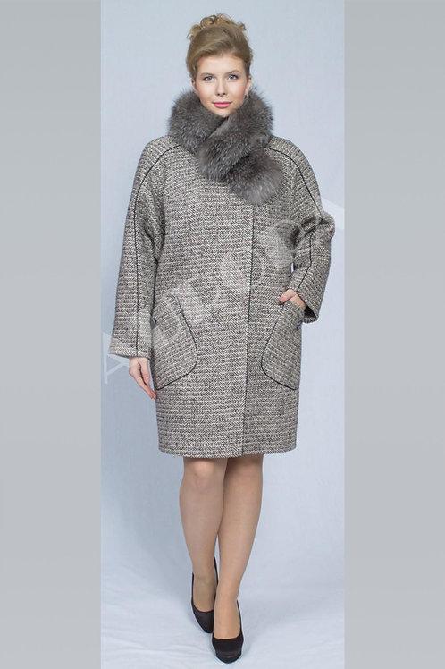 Пальто А-201Z (ткань твид «елка»)