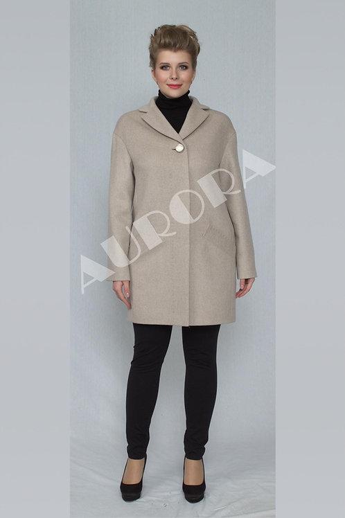 Пальто А-266  (ткань микроворс «рубчик»)