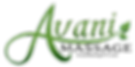 Avani Massage Logo (Green) with Website.