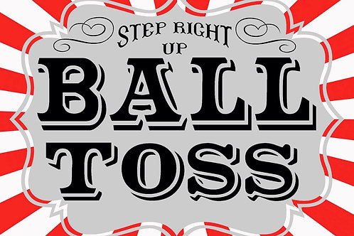 CARNIVAL BALL TOSS SIGN