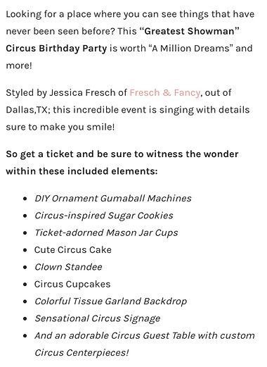 Dallas Circus Birthday