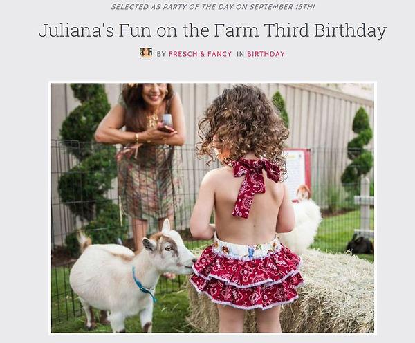 Dallas Farm Birthday