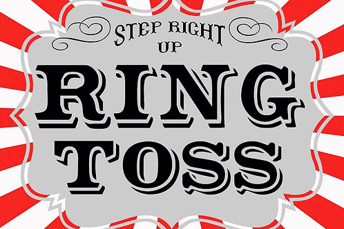 CARNIVAL RING TOSS SIGN