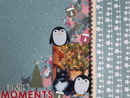 Two Festive Layouts with Last Year's Trimcraft Collections