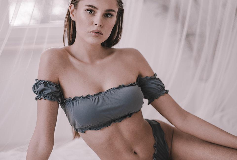 Flirty Swimsuit Set | Graphite